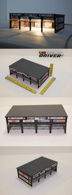 1970-Now 7318: Slot Car American Car Makers Main Pits 4 Bay Garage For Afx,Tyco,Hot Wheels -> BUY IT NOW ONLY: $54.99 on eBay!