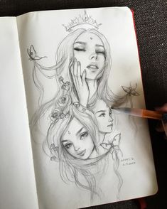 """Concept sketching my gorgeous and delightfully weird friend for the """"Portraits of Friends"""" in June 🤓 Happy D Artist, Character Illustration, Illustration Art, Black And White Drawing, Pop Surrealism, Beautiful Drawings, Life Drawing, Art Sketchbook, Artist Art"""