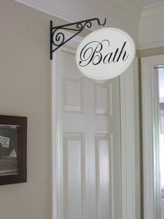 Hey, I found this really awesome Etsy listing at https://www.etsy.com/listing/125614373/bath-sign-hallway-sign-shabby-chic