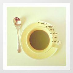 Coffee Break Art Print by Olivia Joy StClaire - $19.00