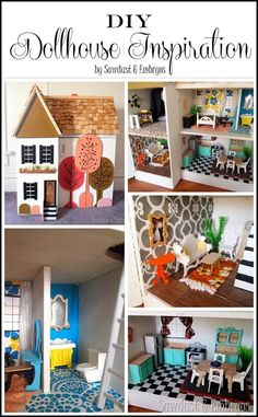 Lots of adorable DIY dollhouse inspiration {Reality Daydream}