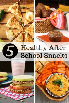 5 Healthy After School Snacks ~ http://www.garnishwithlemon.com