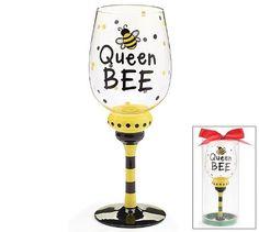 Queen Bee 16 oz Wine Glass/Goblet Adorable bumble Bee Collection Burton & Burton http://smile.amazon.com/dp/B00E2BPGG6/ref=cm_sw_r_pi_dp_vNfMub0EJJAZD