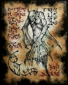 Fragmento del Necronomicon de vampiro antiguo