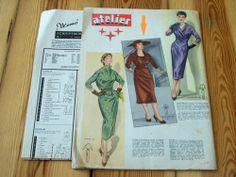Modezeitschrift ATELIER Winter 1955/56 -Schnittmuster 50er Jahre ELEGANT Rarität | eBay