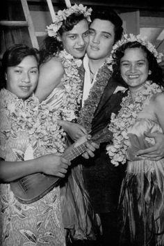Elvis with Hula Girls Honolulu Stadium - Honolulu, HI