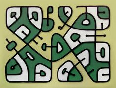 """@LyonsArtwork: My new abstract oil painting ""Abstract 14"". #art Simple patterns inspired from suburban street maps. """