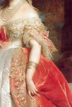 Princess Mathilde Bonaparte, by Edouard Louis Dubufe, 1861 (detail)
