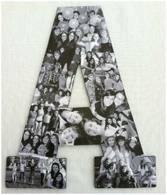 Photo #collages are awesome ways to decorate the walls of your #dorm rooms