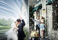 Romantic pre-wedding photo
