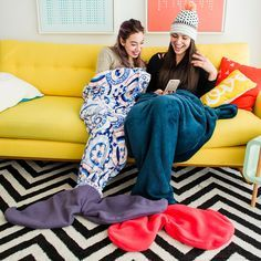 You can make a mermaid blanket with this DIY tutorial during your next snow day.