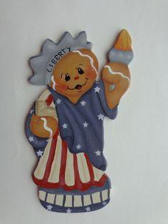 Gingerbread Fridge Magnet ~ Liberty~Americana~Patriotic 4th of July