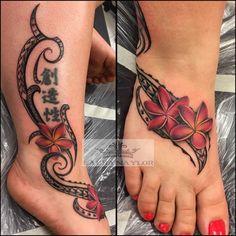 hawaiian tribal tattoos for women Tribal Hand Tattoos, Polynesian Tribal Tattoos, Tribal Tattoos For Women, Anklet Tattoos, Foot Tattoos, Cute Tattoos, Body Art Tattoos, Tatoos, Tattoo Roman