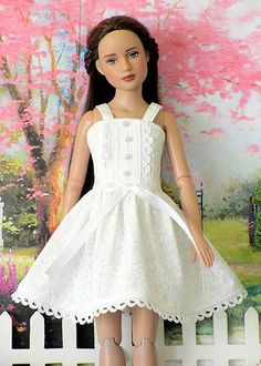 Spring White Party Sundress for Tonner Marley Wentworth, Agnes, Patience