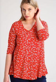 Pitkähihainen paita - red Tunic Tops, Red, Women, Fashion, Moda, Fashion Styles, Fashion Illustrations, Woman