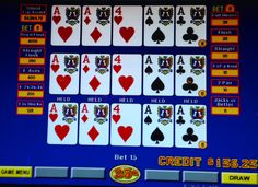 odds of 4 aces in video poker