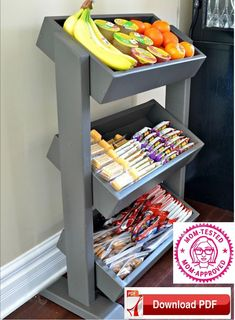 DIY Snack Station / DIY Produce Stand / DIY Display Stand Definitely like this idea.thinking I might do this for the boys eventually -- DIY Snack Station / DIY Produce Stand / DIY Display Stand Diy Interior, Interior Design, Retail Interior, Snack Station, Homework Station, Snack Bar, Produce Stand, Diy Rangement, Diy Snacks