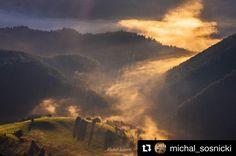 Pridaj sa a spoznávaj aj Ty tieto naše krásy #praveslovenske od @michal_sosnicki  W Małej Fatrze. #mountains #nature #landscape #sunset #sunrise #velkyrozsutec #slovensko #slovakia #fog #inversion #clouds #hills #forest #trees #fairytail