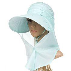Siggi Womens Multi-function Wide Brim Summer Sun Flap Cap...