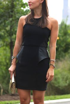 Leather LBD // fall style