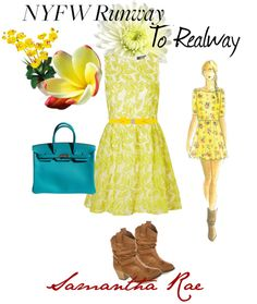 """Yellow Runway"" by samantha-edlin on Polyvore"