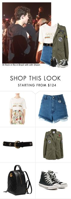 """""""#2500"""" by sofi-camacho ❤ liked on Polyvore featuring Gucci, GCDS, ESCADA, Velvet by Graham & Spencer, Converse and shawnmendes"""