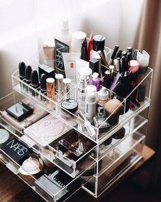 makeup on fleek, glam makeup, makeup cosmetics, makeup haul Makeup Storage Hacks, Makeup Organization, Makeup Haul, Makeup Kit, Glam Makeup, Makeup Cosmetics, Rangement Makeup, Make Up Storage, Storage Ideas