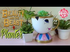 (33) Dollar Tree | Beauty and the Beast DIY Chip the Teacup Planter - YouTube