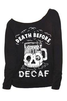 Death Before Decaf Raglan