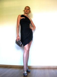 Charcoal wrap-dress: District Vienna http://www.district-vienna.com/   SHOES: NEW PRADA
