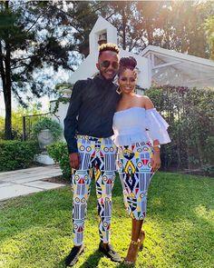 Latest South Africa Shweshwe Dresses Fashion In 2020 Couples African Outfits, Latest African Fashion Dresses, African Dresses For Women, African Print Fashion, African Attire, Traditional African Clothing, Traditional Outfits, Look Fashion, Classy Fashion