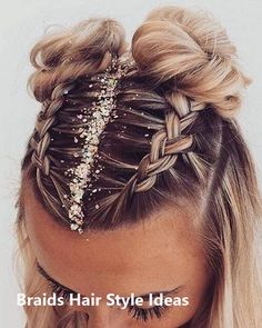 GOOD LOOKING UPDO BRAIDS HAIR STYLE #hairstyles #braidshair