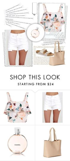 """@englinsfinefootwear"" by lejlar-1 ❤ liked on Polyvore featuring New Look, Just USA, Chanel, Old Navy, Birkenstock and Katie"