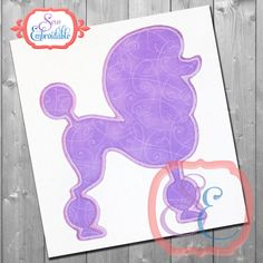 POODLE SHAPE Applique Design For Machine Embroidery INSTANT Download by SewEmbroidable on Etsy