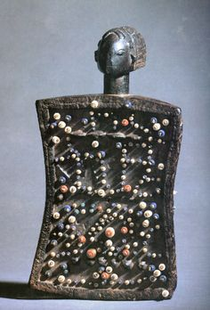 Lukasa (memory board). Mbudye Society, Luba peoples (Democratic Republic of the Congo). c. 19th to 20th century C.E. Wood, beads, and metal. (similar)