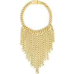 Eklexic Curb Chain Fringe Necklace ($378) ❤ liked on Polyvore featuring jewelry, necklaces, curb link chain necklace, fringe necklace, 18 karat gold necklace, 18 karat gold jewelry and fringe jewelry