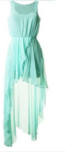 Beautiful Green Hi Low Dress