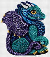 Create an adorable pet dragon to guard your home. Counted cross-stitch kit includes cream aida fabric, cotton floss, and needle. Embroidery Kits, Cross Stitch Embroidery, Owl Cushion, Dragon Cross Stitch, Pet Dragon, Cotton Wreath, Wool Thread, Counted Cross Stitch Kits, Acrylic Wool
