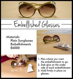 DIY Embellished Glasses (Featured on E! News)