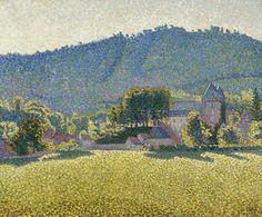 Château de Comblat, the Valley by Paul Signac.