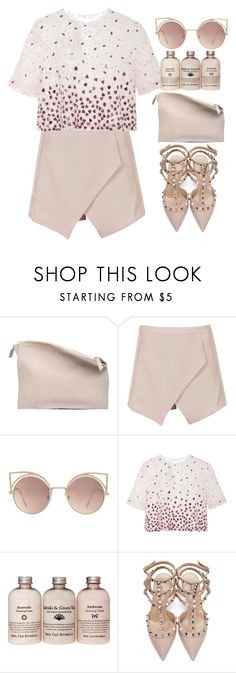 """--------"" by andrea99x ❤ liked on Polyvore featuring Sabrina Zeng, TFNC, MANGO, Monique Lhuillier and Valentino"
