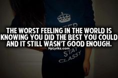 Just Not Good Enough < 3
