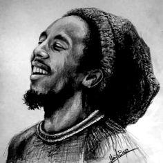 Portrait of Bob Marley by on Stars Portraits - 1 Image Bob Marley, Bob Marley Art, Bob Marley Quotes, Bob Marley Dibujo, Reggae Bob Marley, Reggae Art, Bob Marley Pictures, Robert Nesta, Nesta Marley