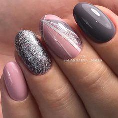 Top 100 gel nail art part 4 - Gentle nails photos Nail Art Gel Nails Art gel nails Gel Nail Designs 2018 Glitter Gel Nails, Gel Nail Art, Nail Manicure, Fun Nails, Acrylic Nails, Best Nail Art Designs, Gel Nail Designs, Nails Design, Pedicure Designs