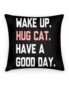 OMG!!!!! Check out what I found on Shop Jeen.com!!! What do you think?!?! HUG YOUR CAT PILLOW