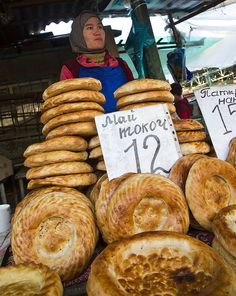 Bread seller. Kyrgyzstan.  HOST FAMILIES NEEDED for high school exchange students from Kyrgyzstan.  Contact OCEAN for more information.  Toll-Free: 1-888-996-2326; E-mail: info@ocean-intl.org; Web: www.ocean-intl.org