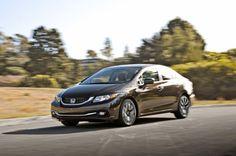 2014 Honda Civic EX L front three quarter in motion