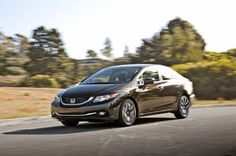2014 Honda Civic EX L front three quarter in motion