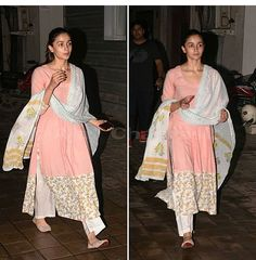 Dress Indian Style, Indian Dresses, Indian Outfits, Simple Pakistani Dresses, Pakistani Bridal Wear, Indian Attire, Indian Wear, Salwar Kurta, Sharara