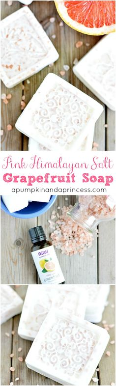 Himalayan Salt Grapefruit Soap Recipe<< This didn't really work out for me. The sea salt clumped together and sank to the bottom. My last bar had about 80% of the salt.